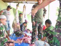 Kodim 0602/Serang Distribusikan 500 Bungkus Daging Qurban