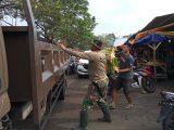 Koramil 0201/Serang Dukung Sepenuhnya Pasar Rau Menjadi Bersih