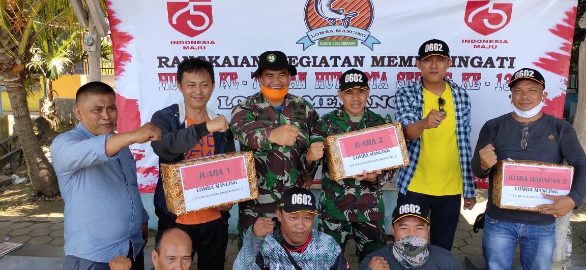 Meriahkan HUT RI ke 75, Kodim 0602 Serang Gelar Lomba Mancing Bersama PWI Kota Serang